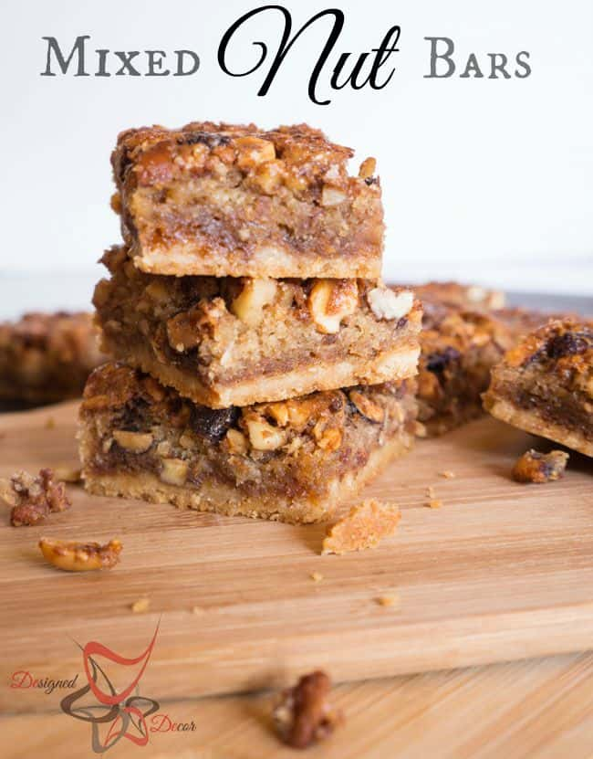 Gooey Nut Bars pinnable