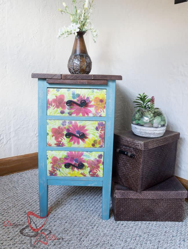 Reclaimed Wood Top Nightstand-11