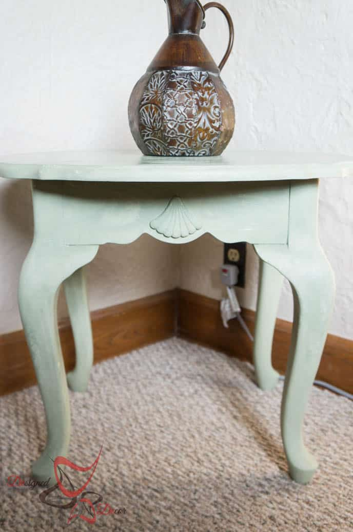 Shell Accent Table with La Chaux French Lime Paint-5