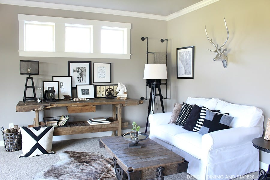Black-and-White-Industrial-Family-Room-