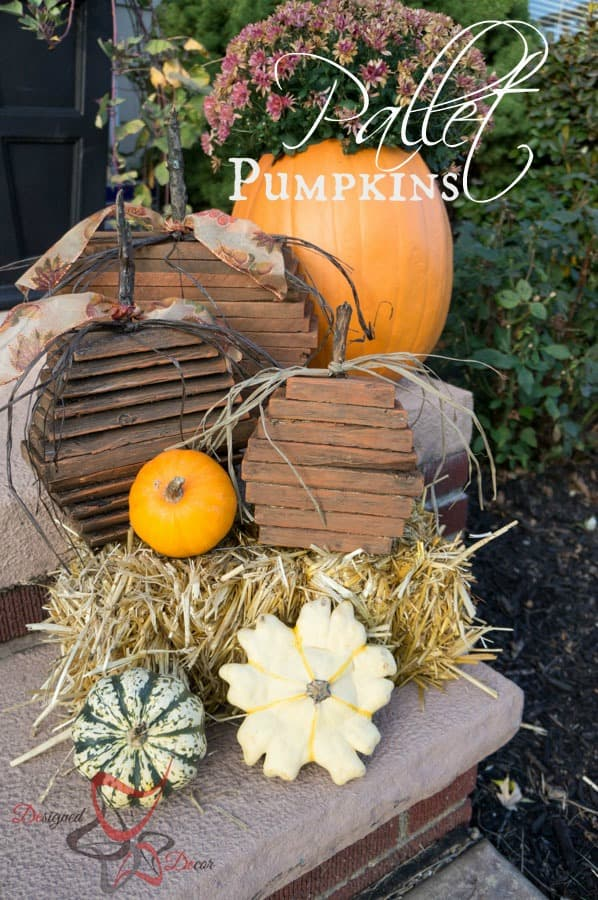 Repurposed Wood- Pallet Pumpkins pinnable