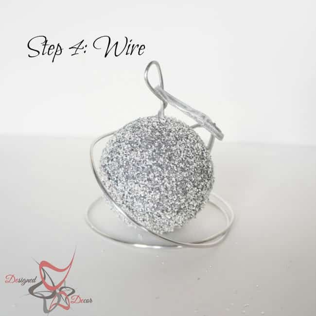 DIY-Glitter Styrofoam Ball Christmas Ornaments-Christmas Decorating on a budget- step 4
