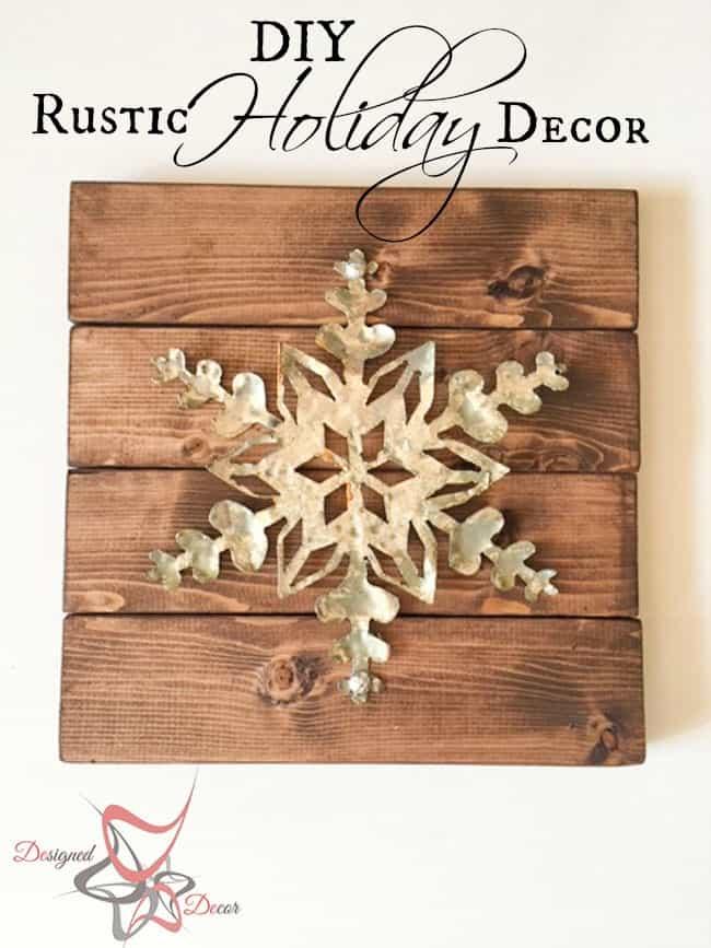 DIY-Wood Block Metal Snowflake - Holiday Decor- Wall Decor- pinnable