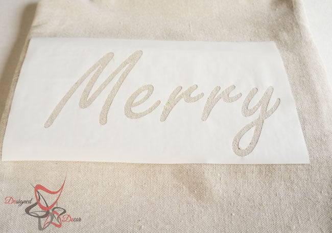 So Sew Easy Pillow Cover- DIY- Stenciled Fabric - Advent Calendar (10 of 27)