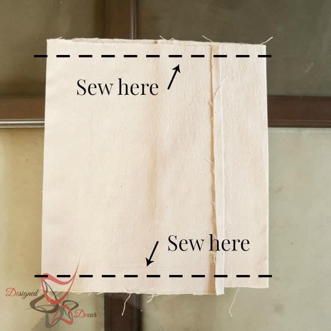 So Sew Easy Pillow Cover- DIY- Stenciled Fabric - Advent Calendar - sew lines