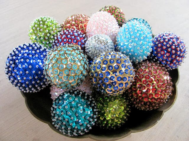 sequin ornaments