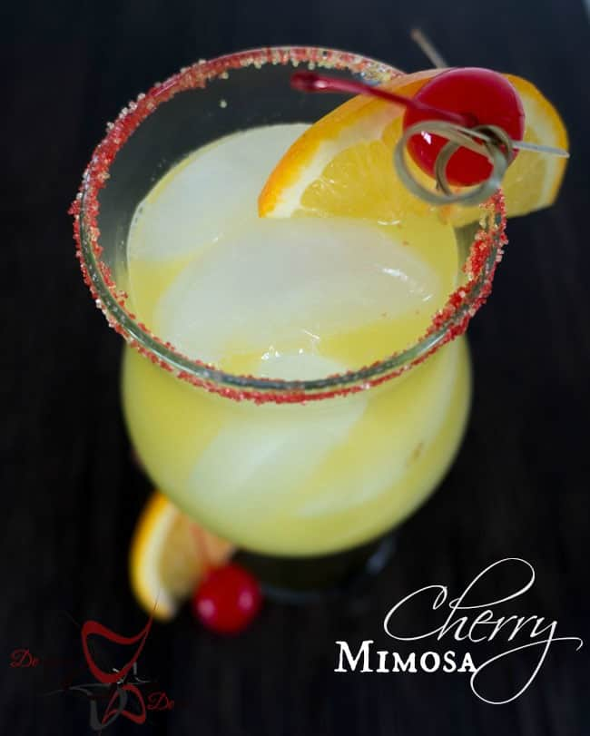 Cherry Mimosa - Champagne Cocktails pinnable