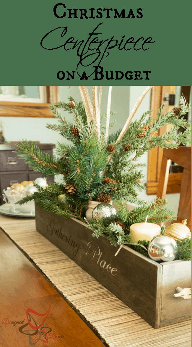 Christmas Centerpiece on a Budget