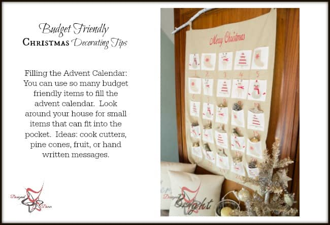 Christmas Decorating on a Budget- Tips for the advent calendar