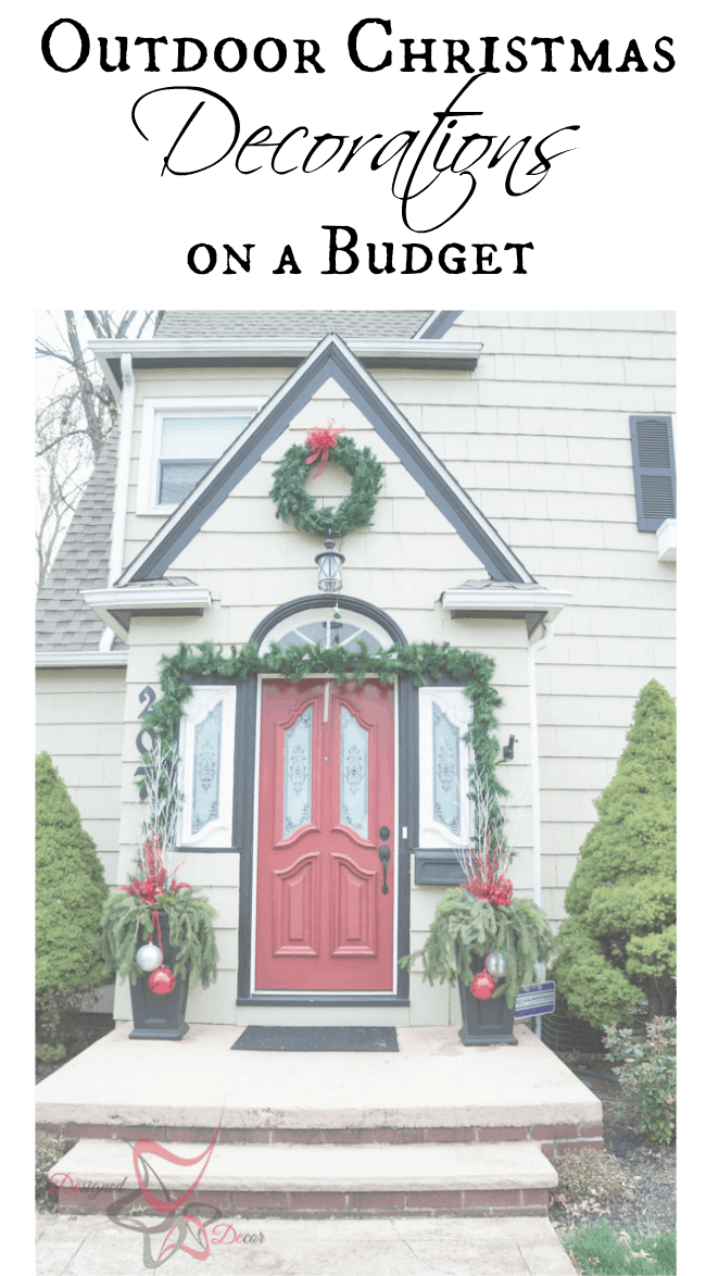 Outdoor christmas decorations on a budget designed decor for Simple outside christmas lights ideas