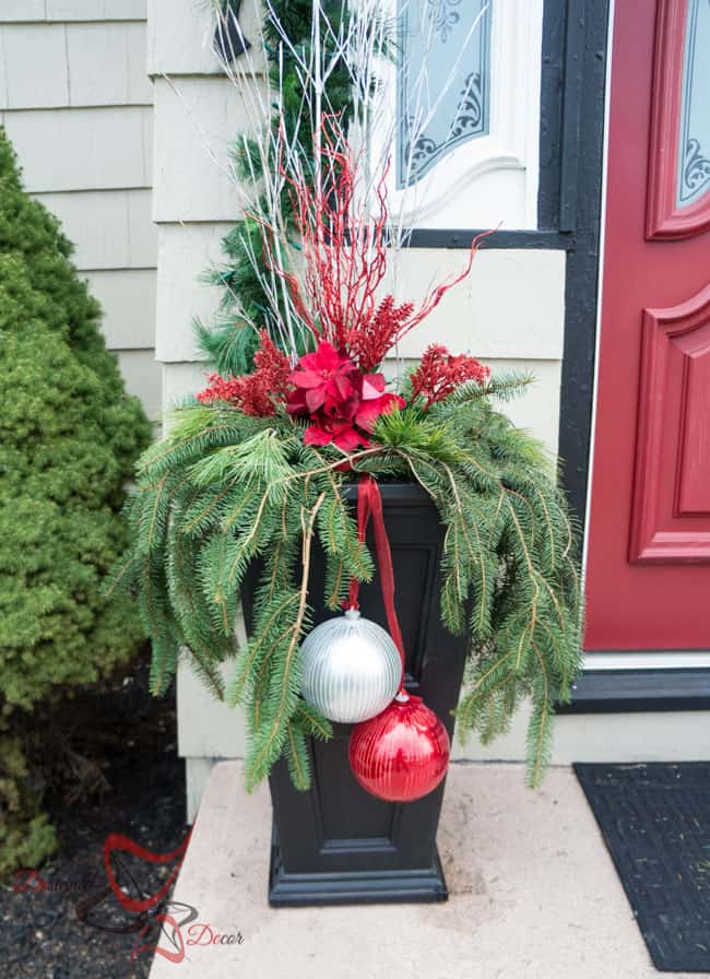 Outside Christmas Decor- Christmas Decorating on a Budget- Flower Boxes- (4 of 21)