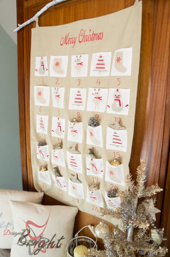 So Sew Easy Pillow Cover- DIY- Stenciled Fabric - Advent Calendar (20 of 27)
