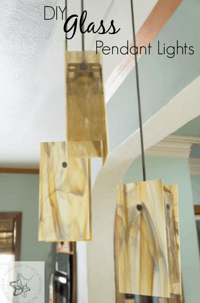 DIY-Glass-Pendant Lights & DIY~ Glass Pendant Lights! ~- Designed Decor