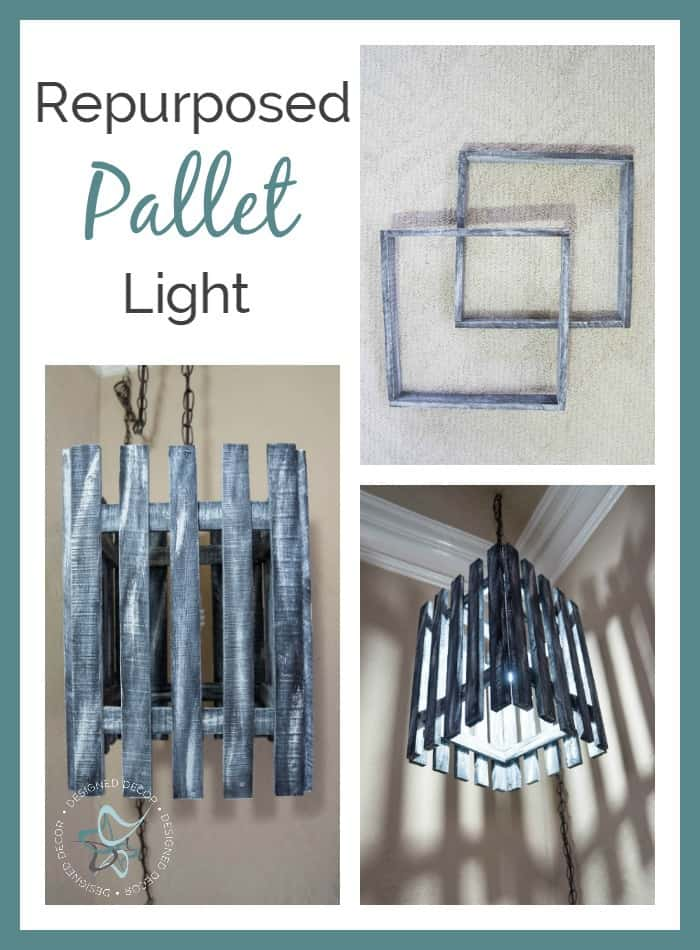 repurposed pallet light