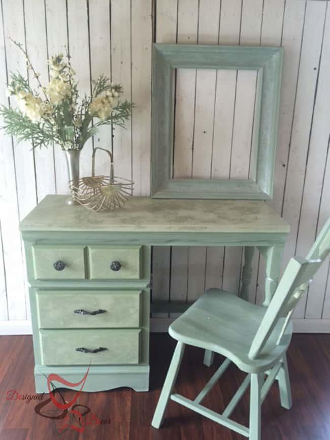 La Chaux-French Lime Paint-Printemps-Desk Makeover-2