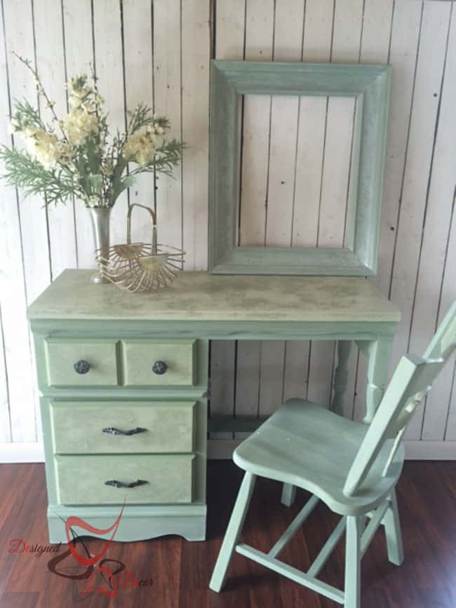 La Chaux-French Lime Paint-Printemps-Desk Makeover-2