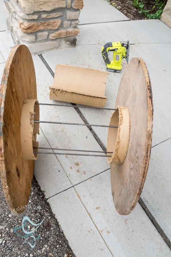 Repurposed Electric Spool Table 3