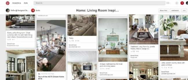 Pinterest Living Room Screen Print