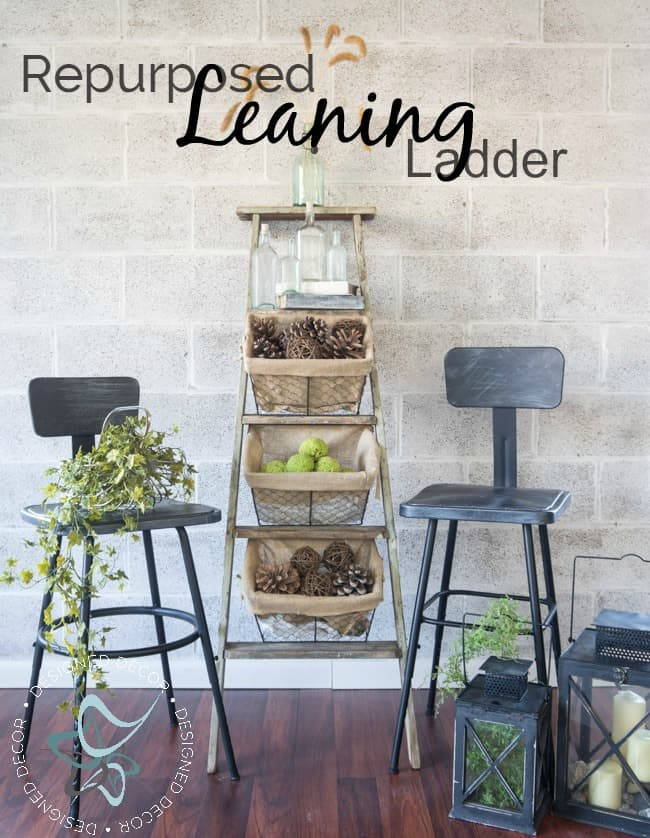 wire-basket-ladder-repurposed-leaning-home-decor-storage-pinnable