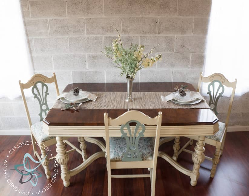 Painted Colonial Revival Dining Set and Buffet ~- Designed Decor
