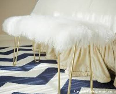 diy-faux-fur-hairpin-bench-cre8tive designs
