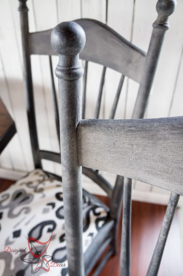 Farmhouse Style Dining Table- Shabby Chic-Repainted Furniture- DIY- Round Dining Table and Chairs- Le Dirt- Aging Dust (11 of 15)
