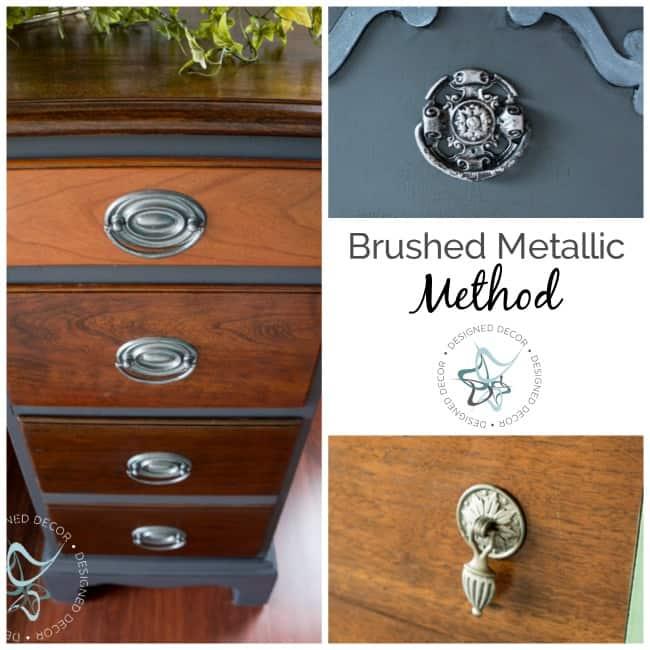 Brushed Metallic Method- How to Paint Hardware- Designed Decor