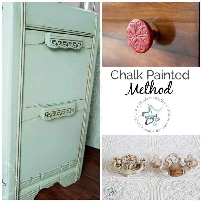 How to Paint Hardware- Chalk Painted Method- Designed Decor