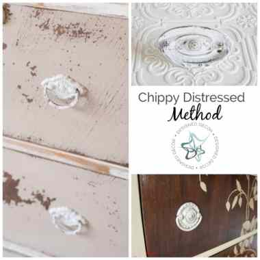 How to Paint Hardware- Chippy Distressed Method - Designed Decor