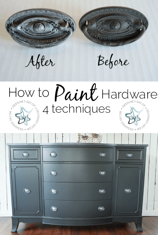 How to paint hardware- 4 techniques
