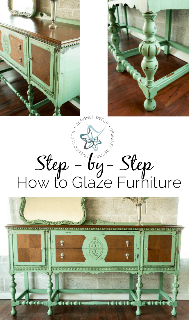 step-bystep-how to glaze furniture
