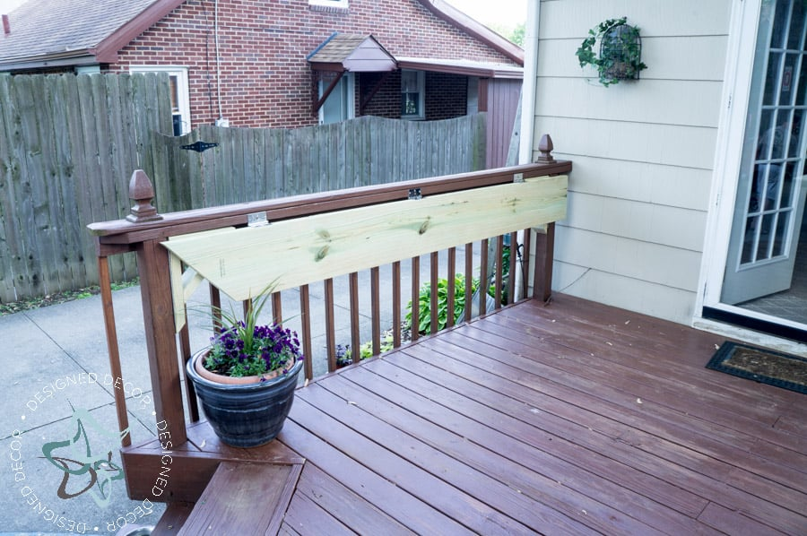 Build a DIY Flip Up Deck Bar! ~- Designed Decor