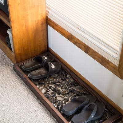 River Rock DIY Shoe Tray