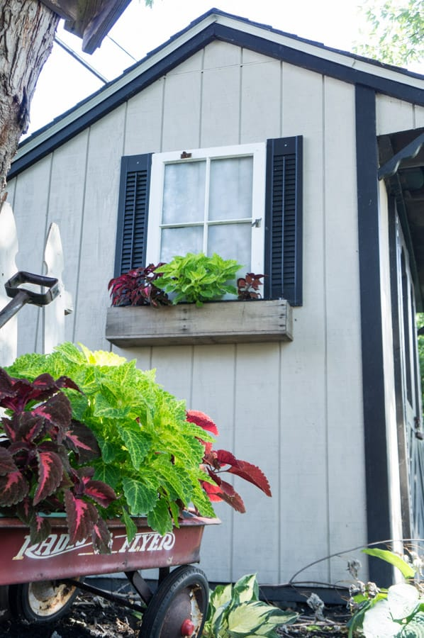 Repurposed Window Shed Flower Box Designed Decor
