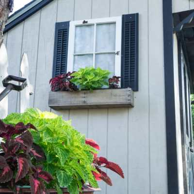 Repurposed Window Shed Flower Box