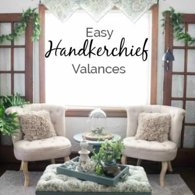 DIY Handkerchief Window Valances