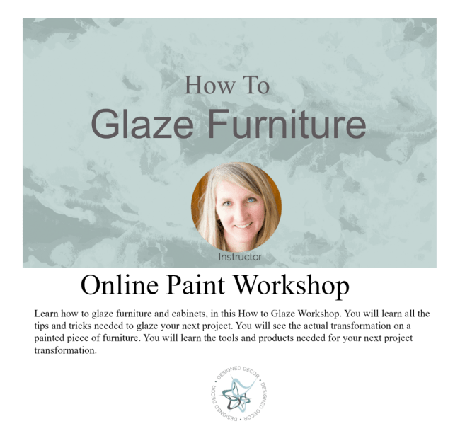 how to glaze furniture graphic