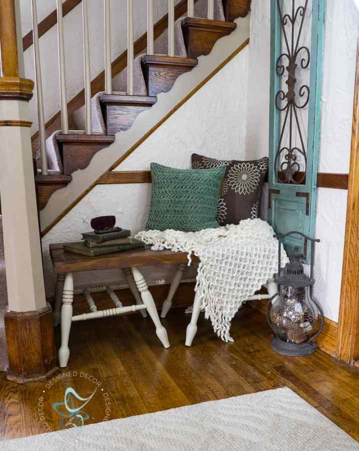 How to Build a Repurposed Chair Leg Bench the easy way! ~- Designed ...