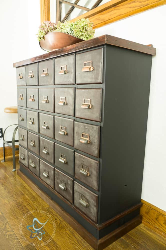 I have and I fell hard for this one and let me tell you the lessons I  learned from this vintage apothecary cabinet. - Vintage Apothecary Cabinet Makeover ~- Designed Decor