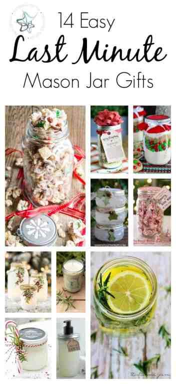 14 Last Minute Mason Jar Gift Ideas!
