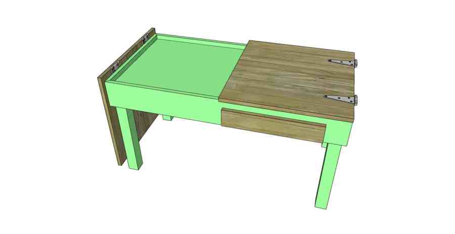 sketchup of puzzle coffee table