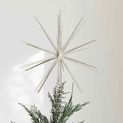 Silver Glitter Burst Topper- Crate and Barrel
