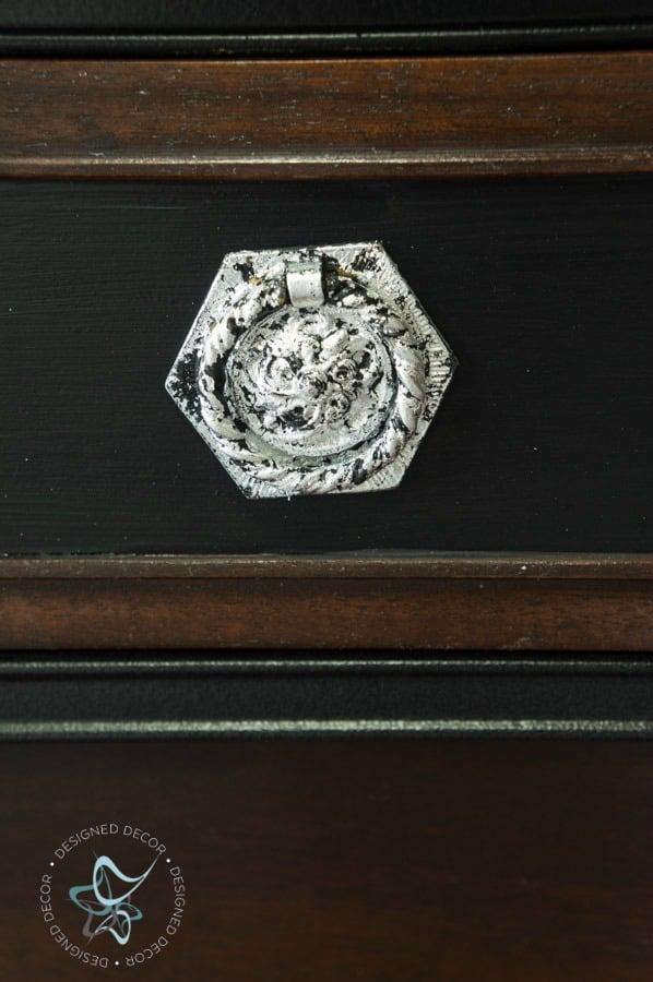 silver leaf furniture hardware