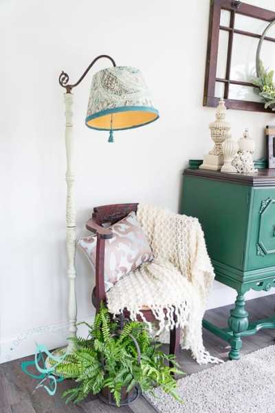 No-Sew Fabric Lampshade Cover