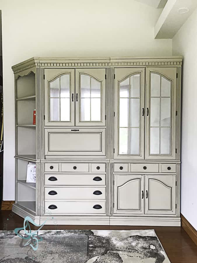 painted wall office cabinets