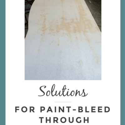 Solutions to Deal with Unsightly Paint Bleed-Through