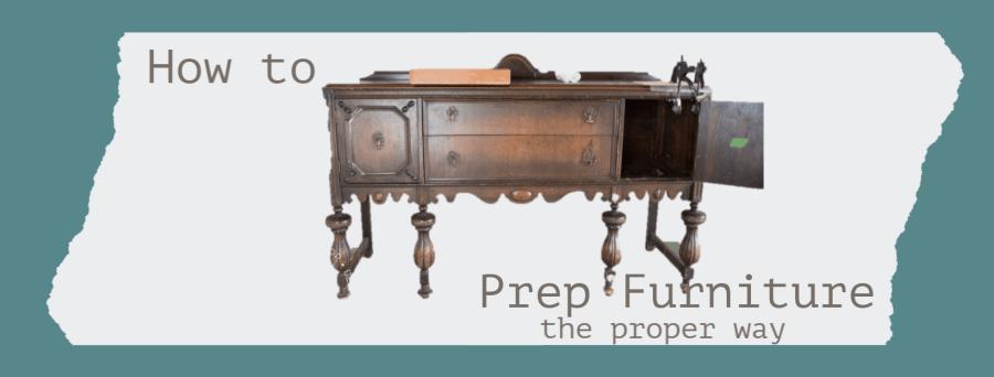 Properly prep furniture graphic