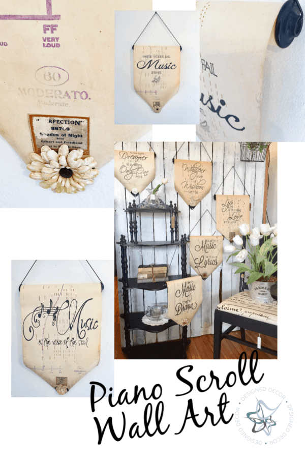 DIY Wall Art from Piano Scrolls