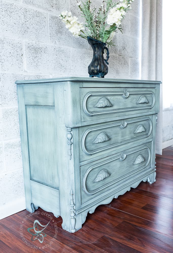 powder glaze dresser makeover