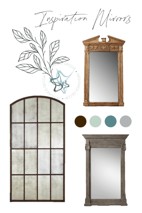 3 different styles of oversized leaning mirrors